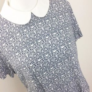 Tory Burch Tops - Tory Burch Removable Collar Merrit Blouse Large